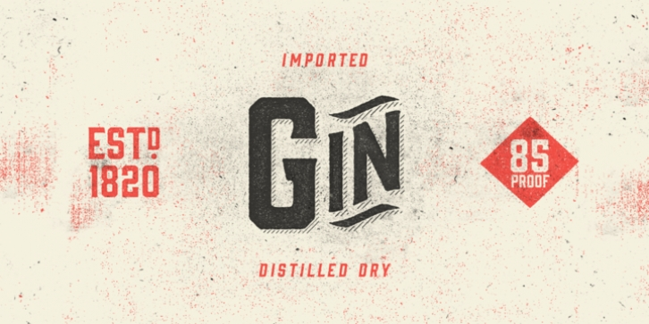 Gin font preview