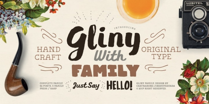 Gliny font preview