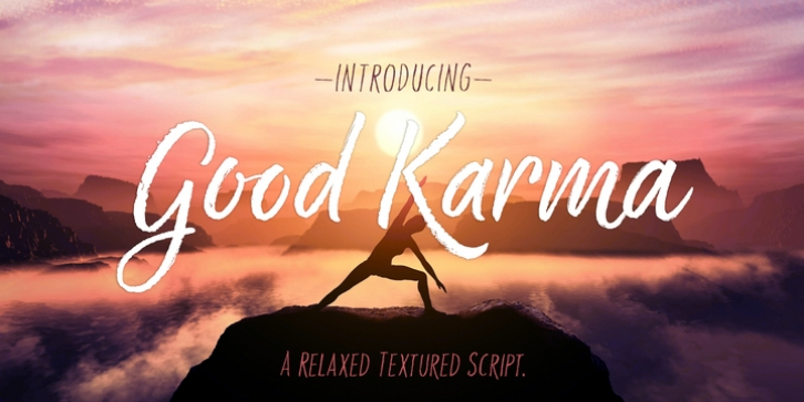 Good Karma font preview