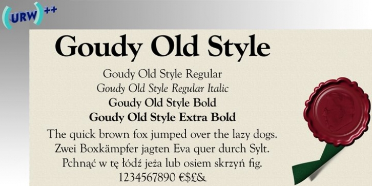 Goudy Old Style font preview