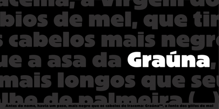Graúna font preview