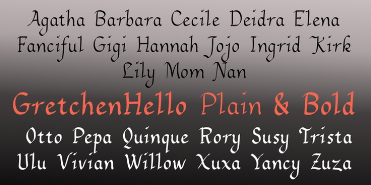 GretchenHello font preview