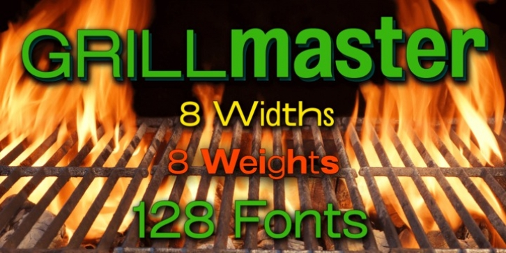 Grillmaster font preview