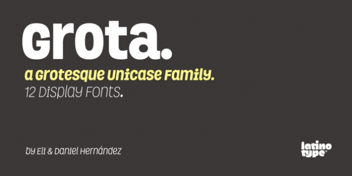 Grota font preview