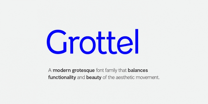 Grottel font preview