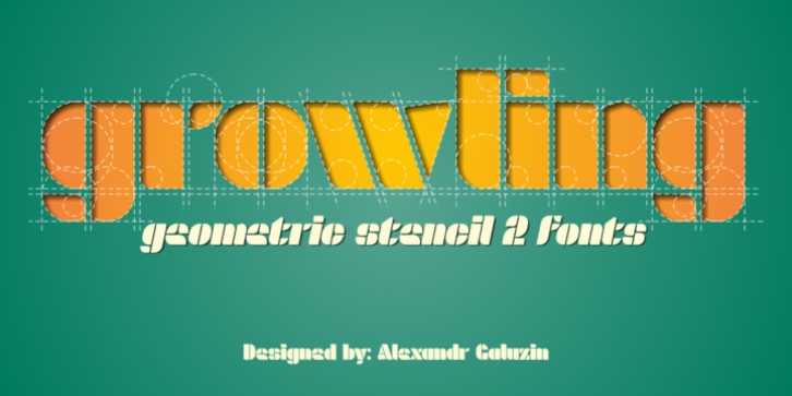 Growling font preview