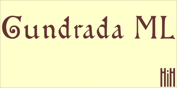 Gundrada ML font preview