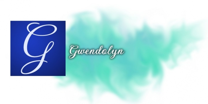 Gwendolyn font preview