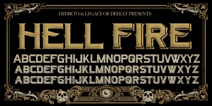 H74 Hellfire font preview