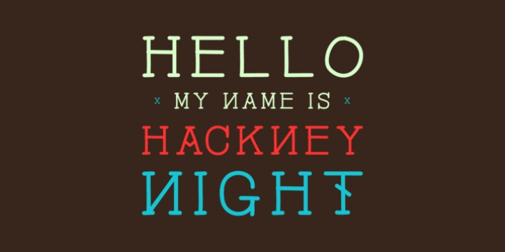 Hackney Night font preview