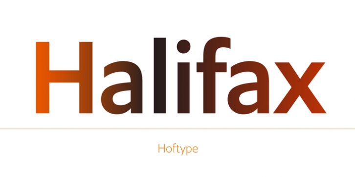 Halifax font preview