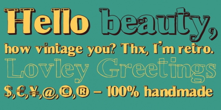 Hand Retro Sketch Times font preview