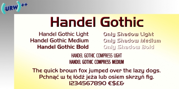 Handel Gothic font preview
