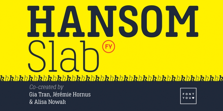 Hansom Slab FY font preview