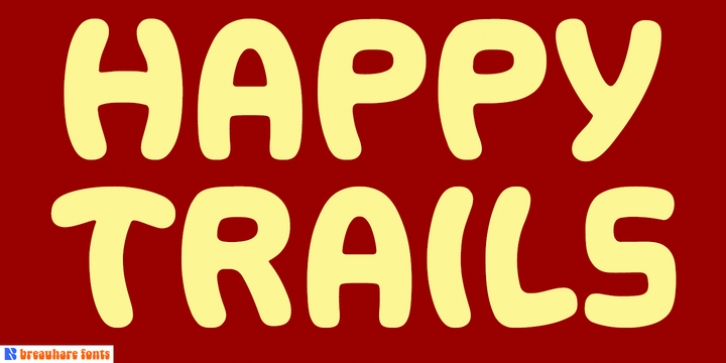 Happy Trails font preview