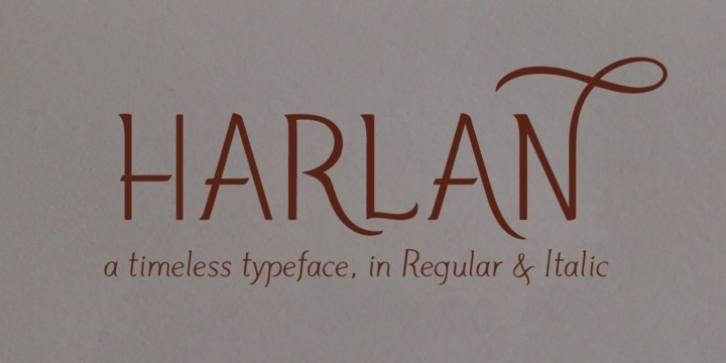 Harlan font preview
