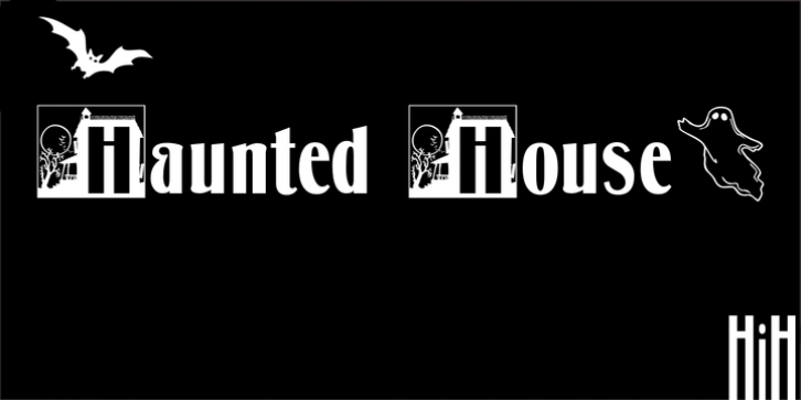 Haunted House font preview