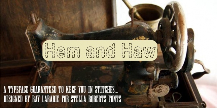 Hem And Haw SRF font preview