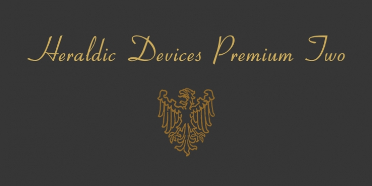 Heraldic Devices Premium font preview