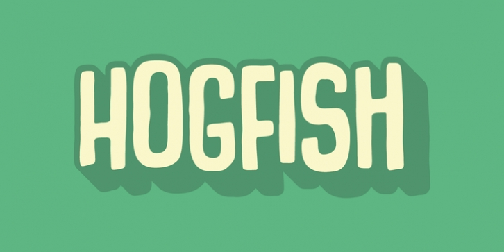Hogfish font preview
