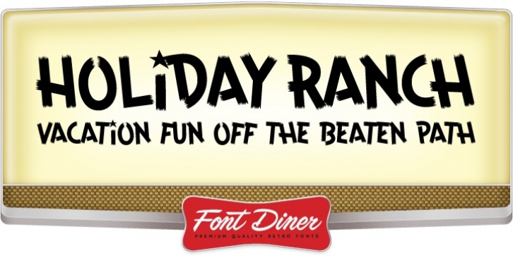 Holiday Ranch font preview