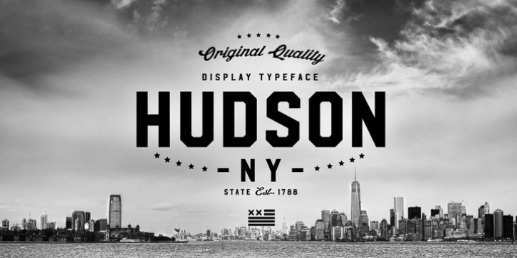 Hudson NY font preview