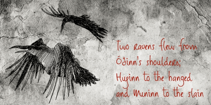 Huginn And Muninn font preview