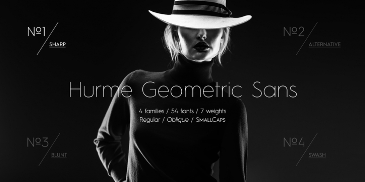 Hurme Geometric Sans 1  2 font preview