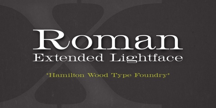 HWT Roman Extended Lightface font preview