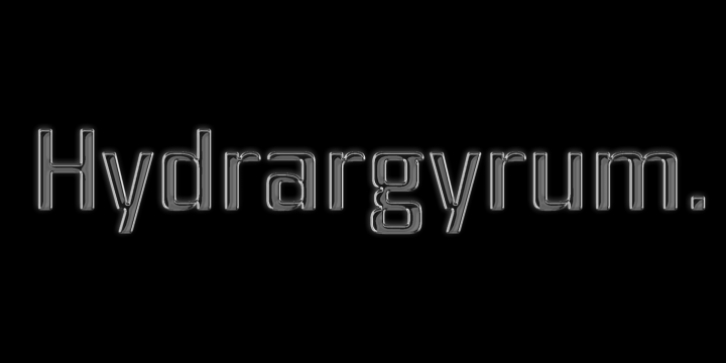 Hydrargyrum font preview