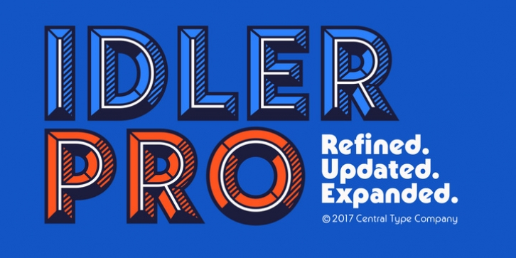 Idler Pro font preview