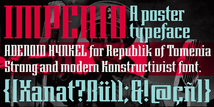 Imperio font preview