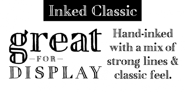 Inked Classic font preview