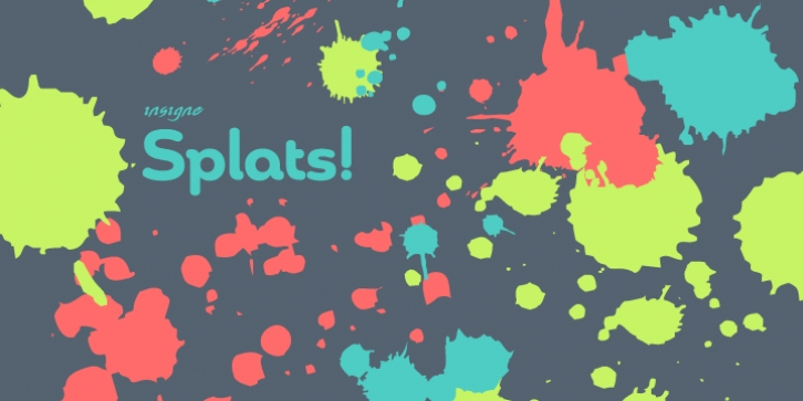 Insigne Splats! font preview