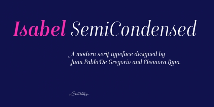 Isabel SemiCondensed font preview