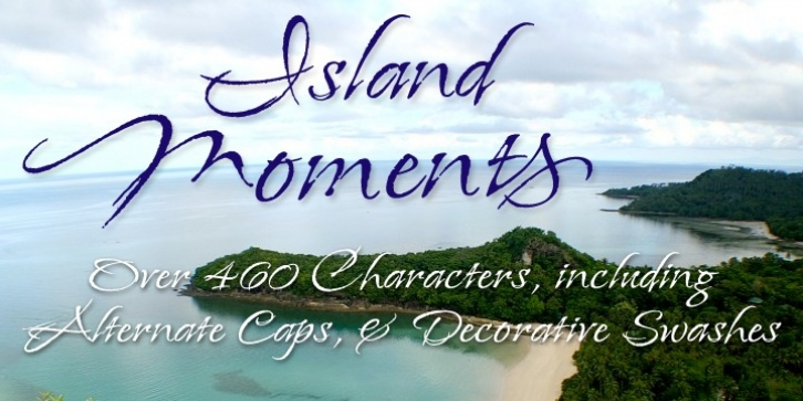 Island Moments font preview