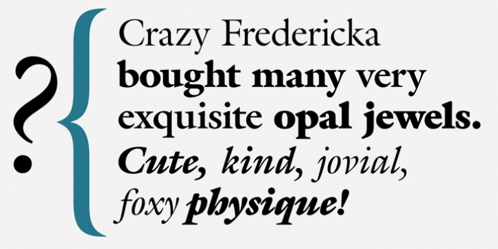 ITC Galliard font preview