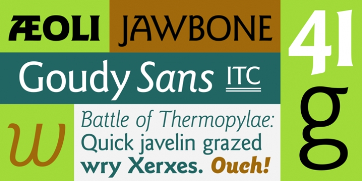 ITC Goudy Sans font preview