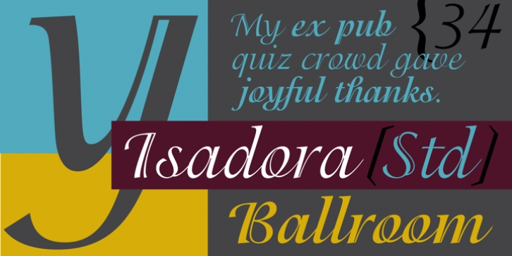 ITC Isadora font preview