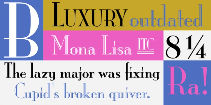 ITC Mona Lisa font preview