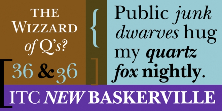 ITC New Baskerville font preview