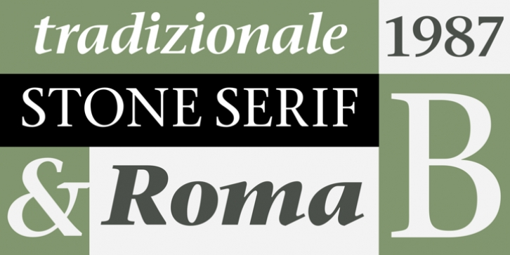 ITC Stone Serif font preview