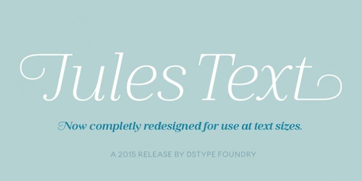 Jules Text font preview