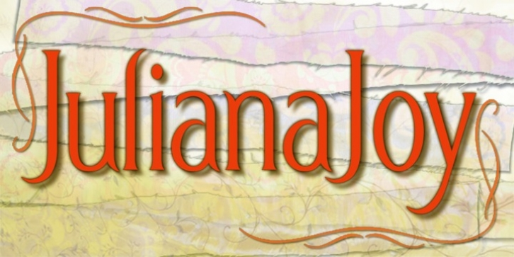 JulianaJoy font preview