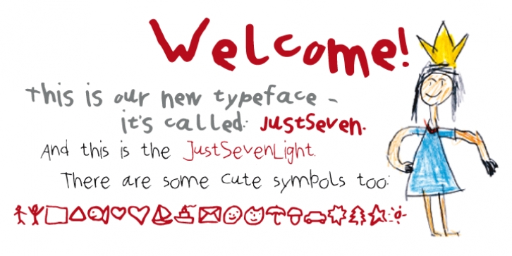 Just Seven font preview