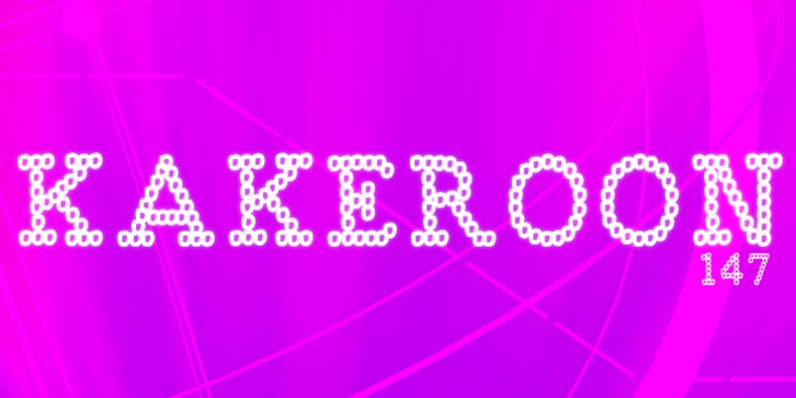 Kakeroon font preview