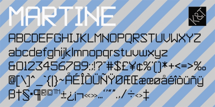 KT Martine font preview