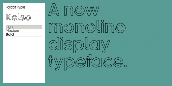 Kelso font preview