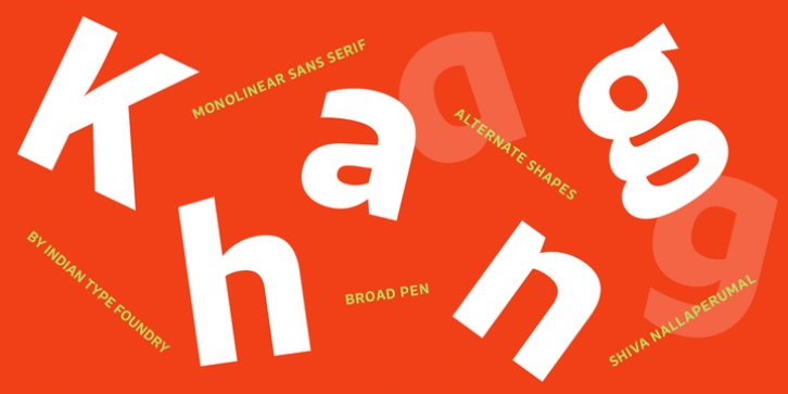 Khang font preview