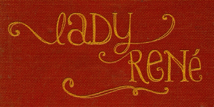 Lady Rene font preview